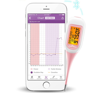 Easy Home Smart Basal Thermometer with app