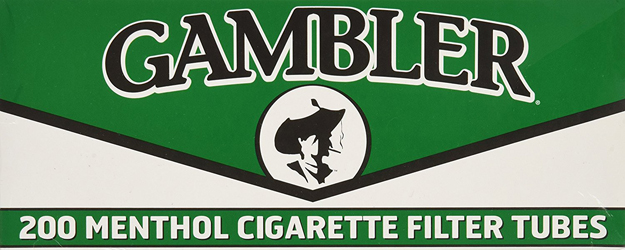 Gambler Regular Menthol Cigarette Tubes 5 Boxes