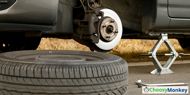 Step of Change a Car Tire