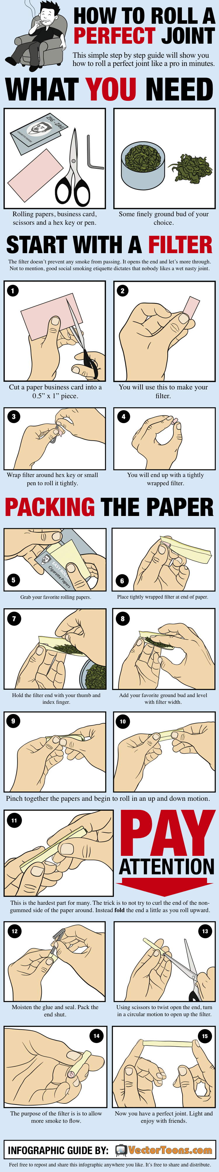 how to roll a joint filter